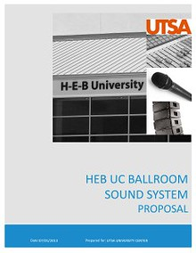 HUC BALLROOM SOUND SYSTEM PROPOSAL
