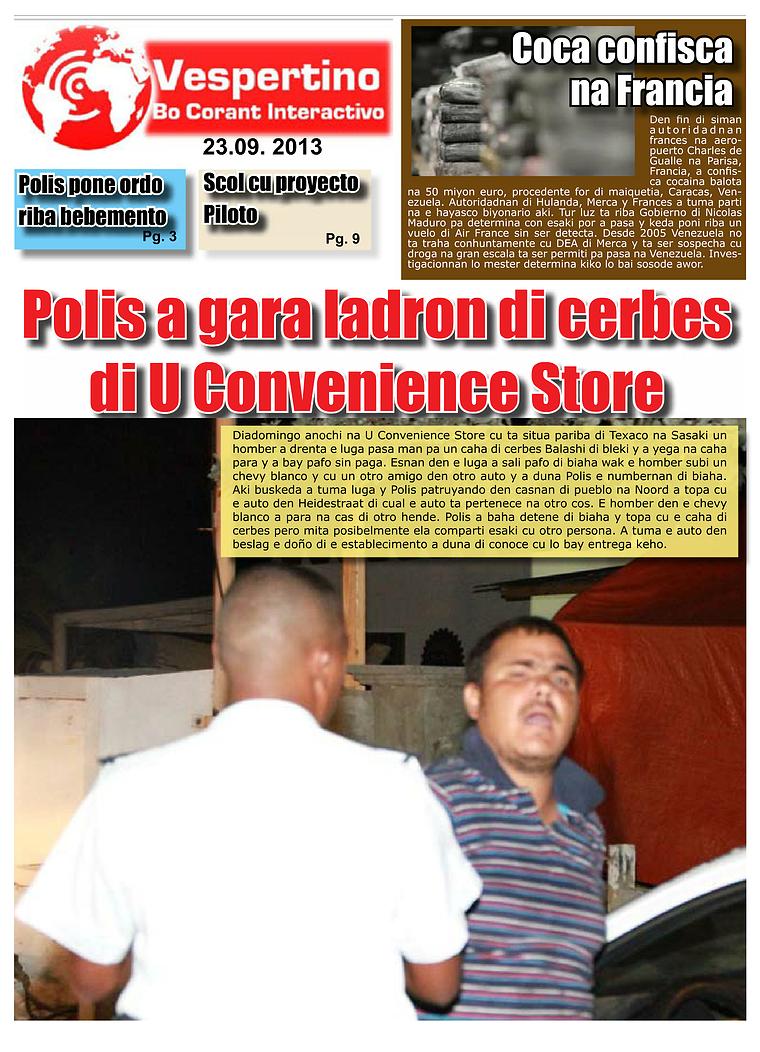E-Vespertino Edicion 23 di September 2013