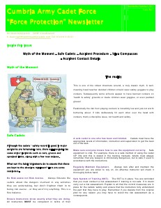 Cumbria ACF - Force Protection Newsletter Winter 2011