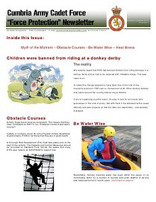 Cumbria ACF - Force Protection Newsletter