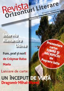 Revista Orizonturi Literare septembrie 2013