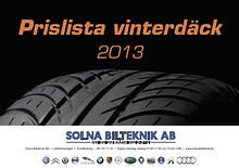 Prislista Däck 2013