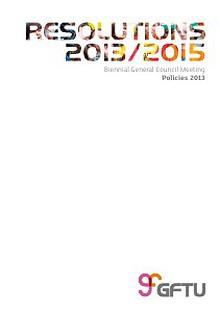 Resolutions 2013/2015