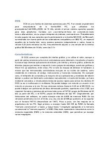 DOS-Sistema Operativo