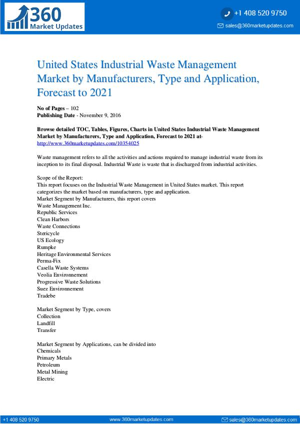 Market Research Reports Industrial Waste Management Market