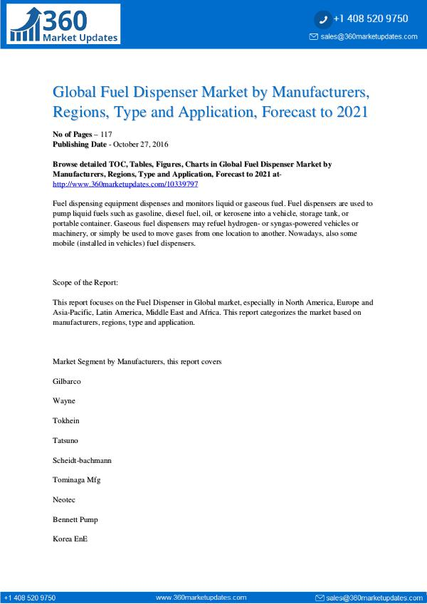 Reports- Fuel Dispenser Market Segmentation