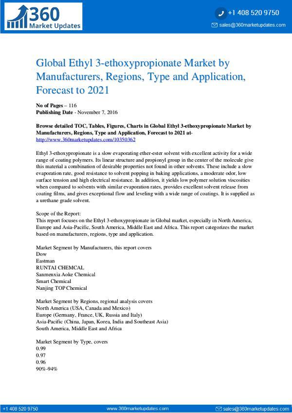 Reports- Ethyl 3-Ethoxypropionate Market Trends