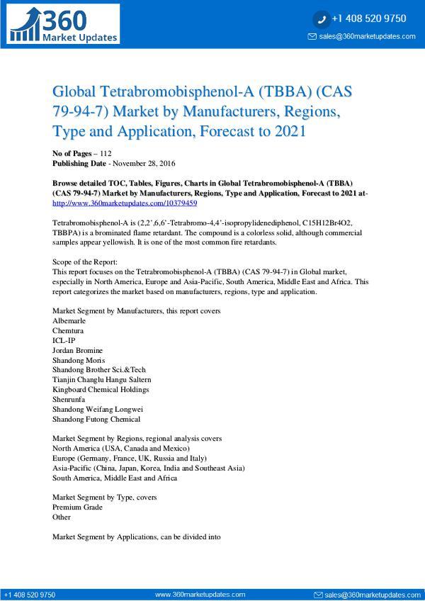 Reports- Tetrabromobisphenol-A Market