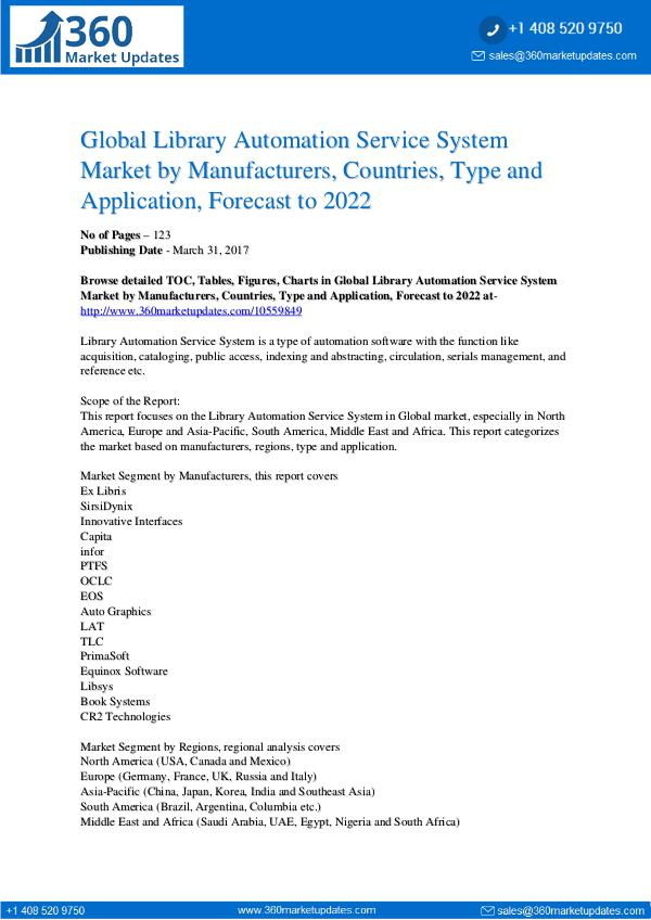 Reports- Library Automation Service System Market