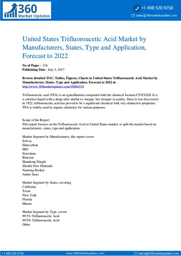 Reports- Trifluoroacetic Acid Market