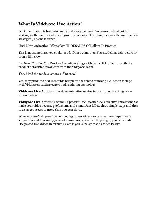 Viddyoze Live Action review - Viddyoze Live Action