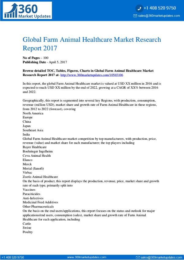 My first Magazine Global-Farm-Animal-Healthcare-Market-Research-Repo