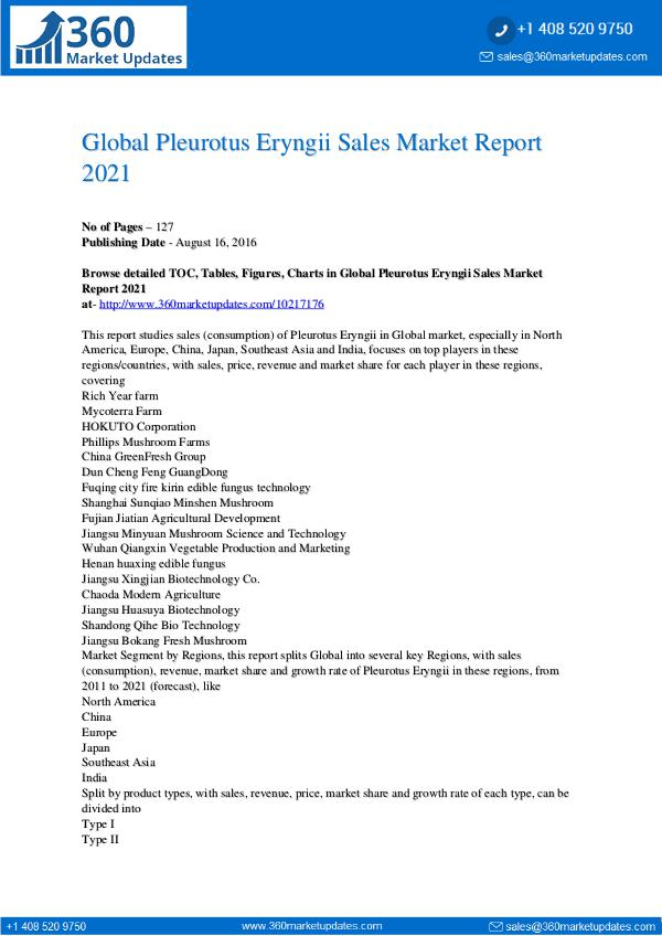 My first Magazine Global-Pleurotus-Eryngii-Sales-Market-Report-2021-