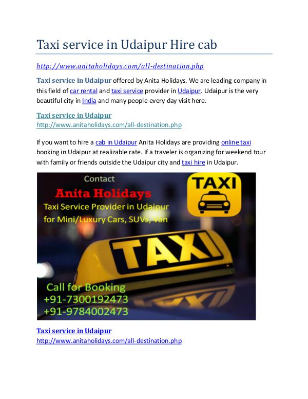 Taxi service in Udaipur Hire cab Taxi service in Udaipur Hire cab