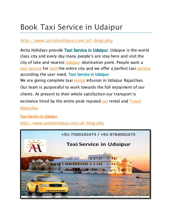 Book Taxi service in Udaipur Book Taxi service in Udaipur