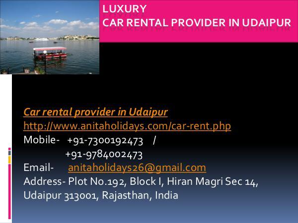 Luxury Car Rental Provider in Udaipur Luxury Car Rental Provider in Udaipur