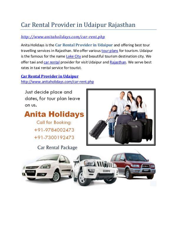 Car Rental Provider in Udaipur Rajasthan