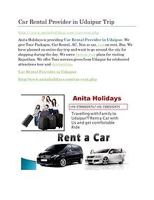 Car Rental Provider in Udaipur Airport