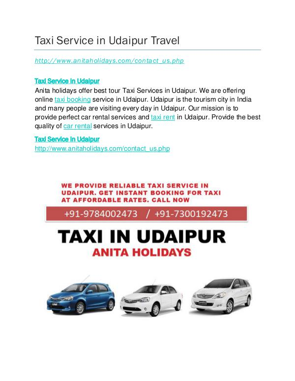 Taxi Service in Udaipur Full Day Taxi Service in UdaipurTravel