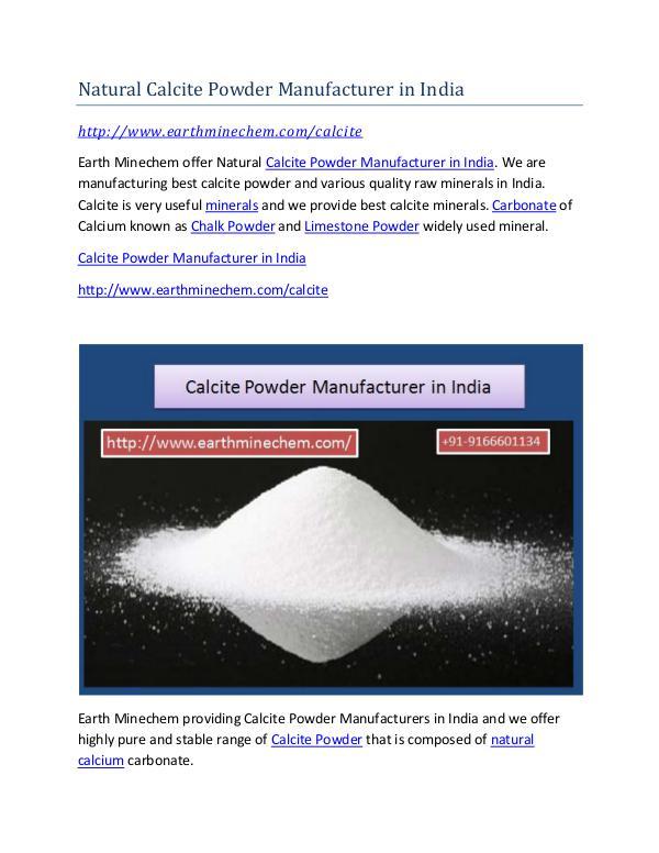 Calcite Powder Manufacturer in India Market Price Natural Calcite Powder Manufacturer in India