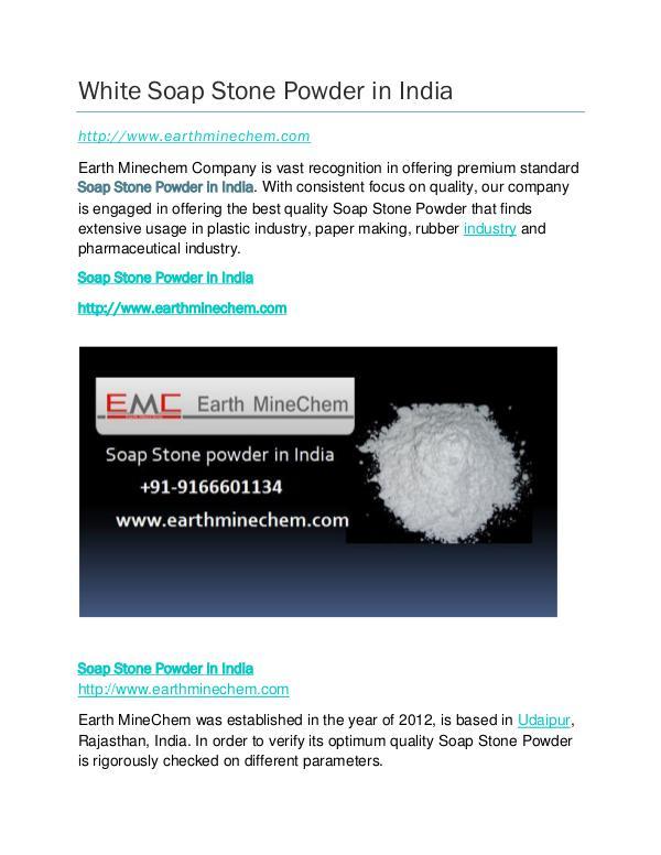 Soap Stone powder in India White Soap Stone Powder in India