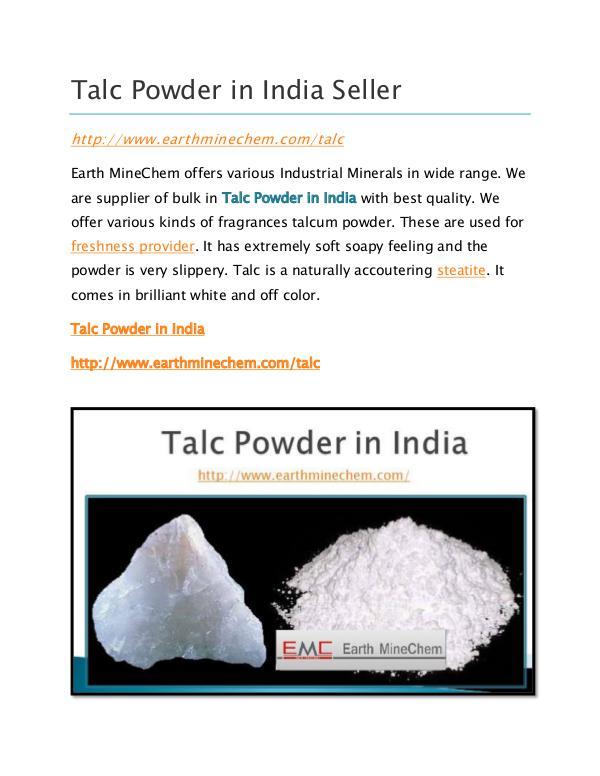 Talc Powder in India Seller