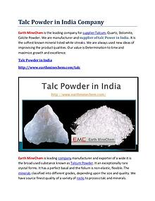 Talc powder in India