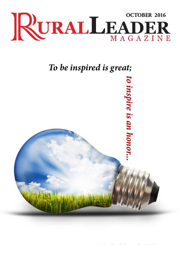 Rural Leader Magazine October 2016