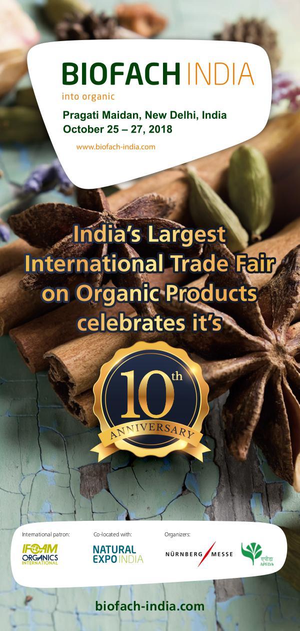 BIOFACH INDIA 10th Anniversary Edition