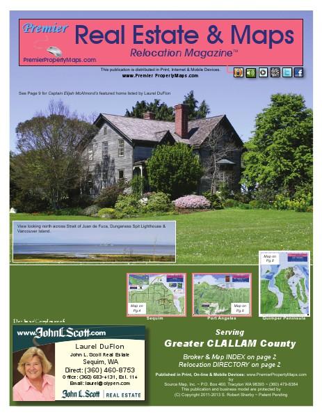 Real Estate & Maps Relocation Magazine Clallam Co., WA  May 2014