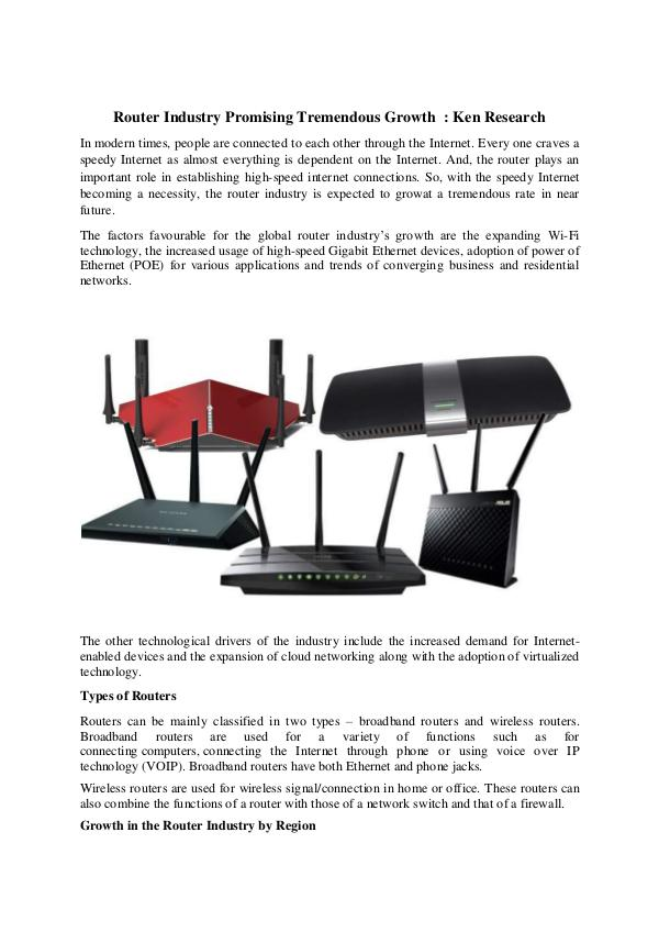 Global router industry research report