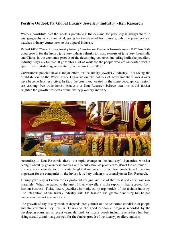 Global jewellery Market Analysis