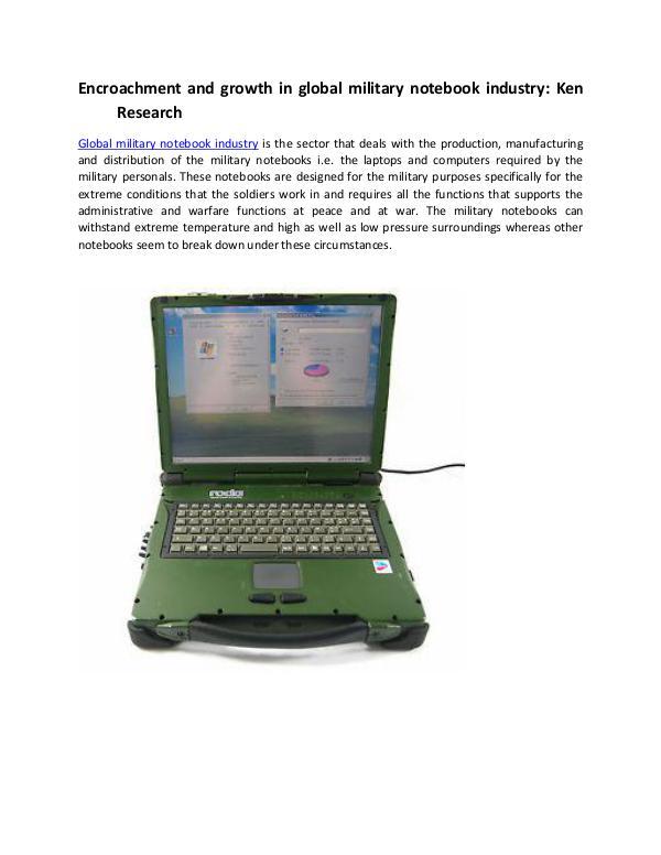 Military notebook market analysis,Global defense i