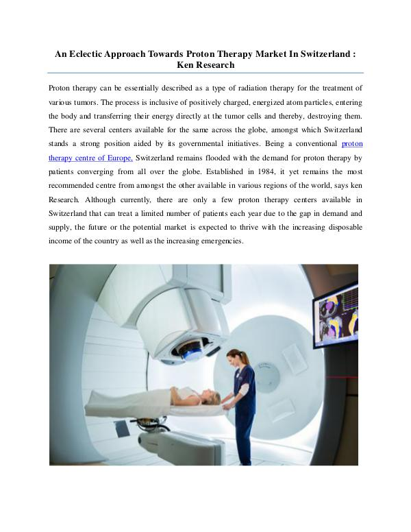 Market Research Report Switzerland proton therapy centers,Global proton t