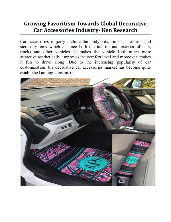 Car accessories sales volume worldwide,