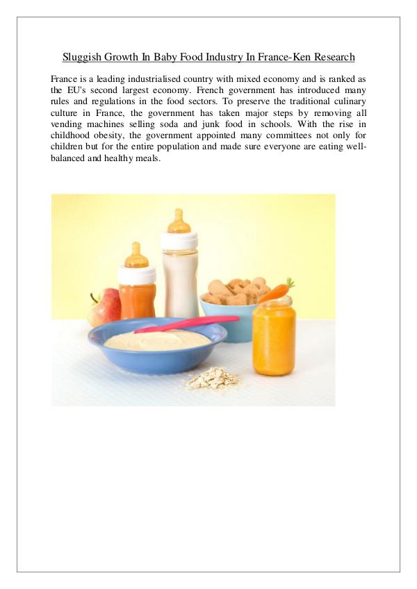France baby food market analysis,France baby food