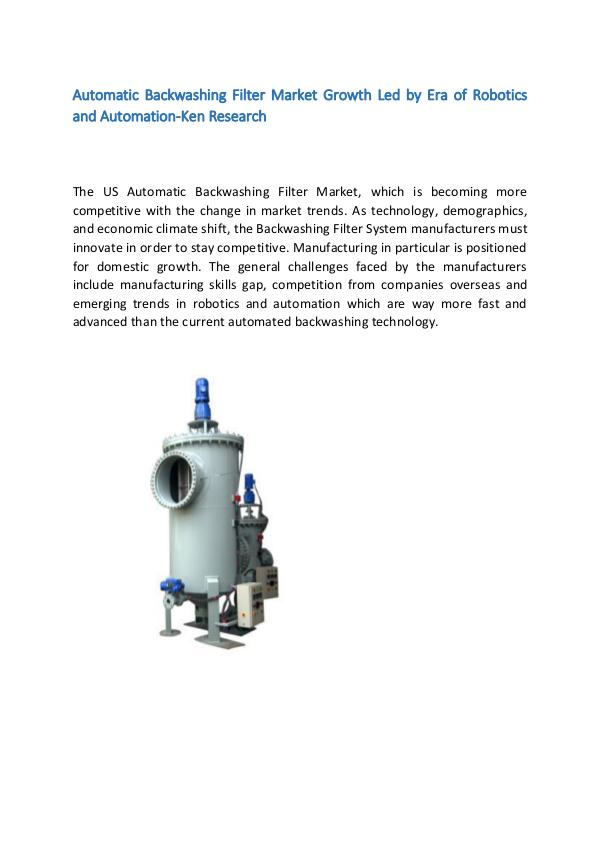 Global Automatic Backwashing Filter Market Researc