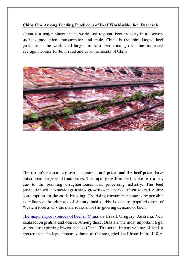 China beef Market trends,China beef Export Volume,