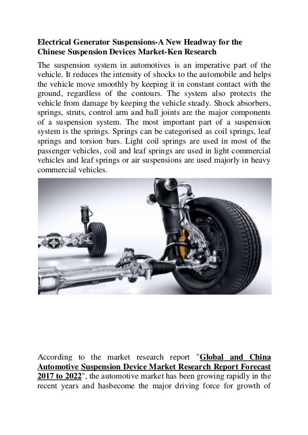 Automotive Suspension Device Market,China Automoti