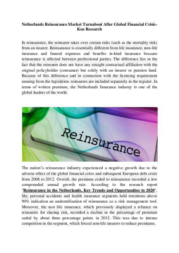 Market Research Report Netherlands insurance industry research,Europe ins