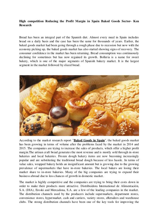 Market Research Report Spain Baked Goods Market Research Report,Spain Bak