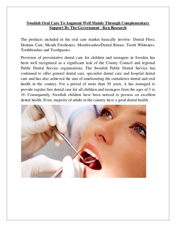 Market Research Report Sweden Oral Care practitioners,Sweden Oral Care pr