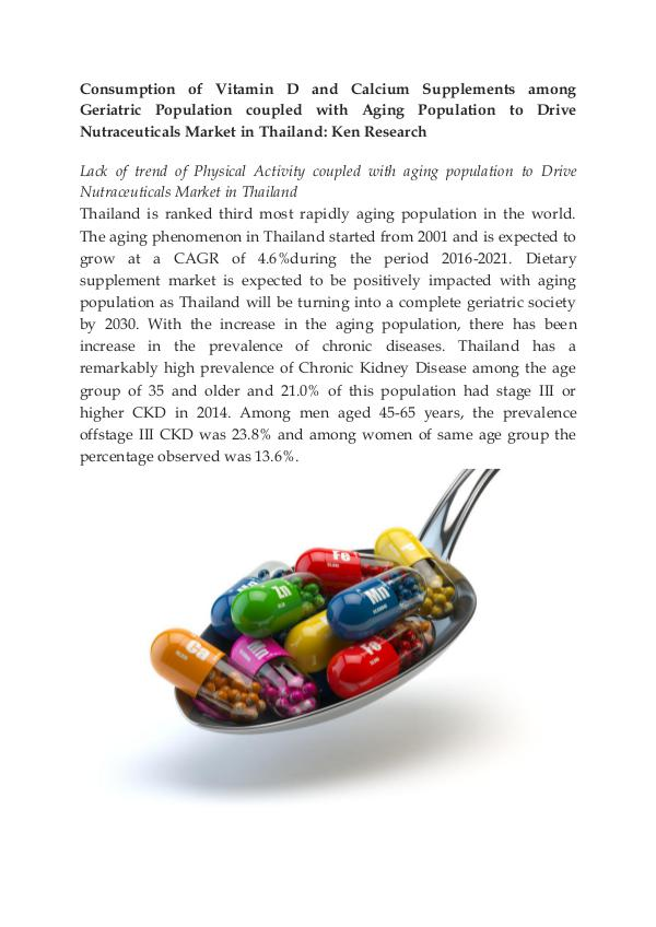 Thailand Functional Beverage Market,Vitamins and D