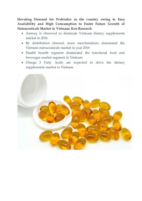 Vietnam Nutraceuticals Market Outlook to 2021-Ken