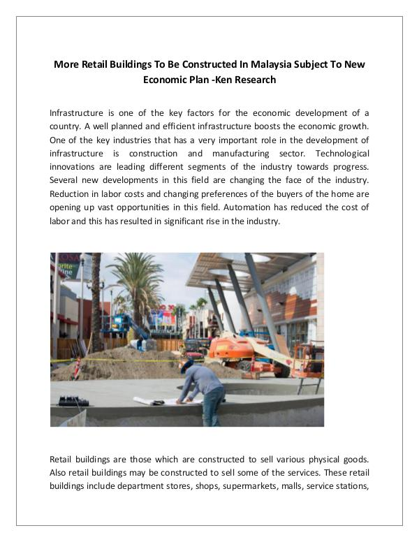 Malaysia Retail Building Market Research Report,Ma