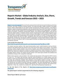 Heparin Market Share, Trends, Price and Analysis To 2023