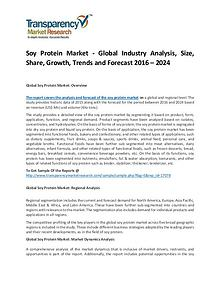 Soy Protein Market Size, Share, Trends and Forecasts To 2024