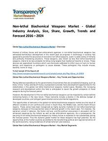 Non-lethal Biochemical Weapons Market Growth, Trends and Forecast