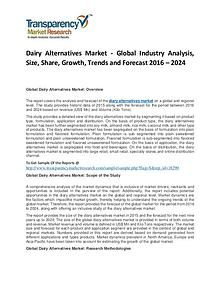 Dairy Blends Market Trends, Growth, Price, Demand and Analysis