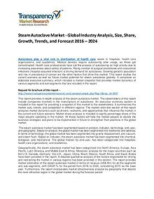 Steam Autoclave Market Growth, Trend, and Forecast To 2024